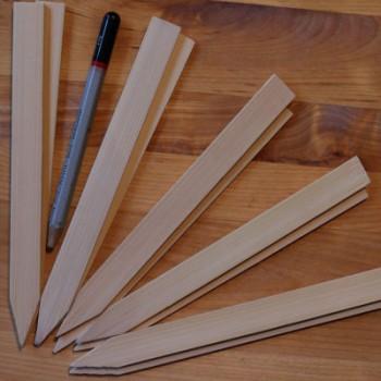 Bamboe label 15 x 1,4 cm